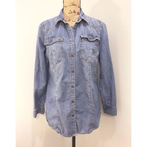 Mossimo Blue Chambray Button Up